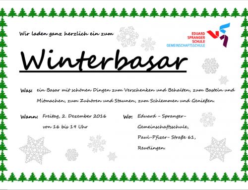 Einladung zum Winterbasar