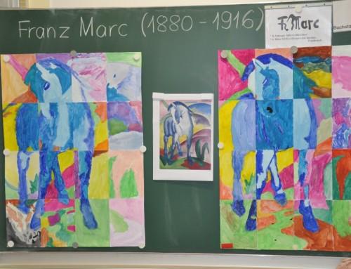 """Jahresthemen-Abschluss """"Kunst-Stück"""" der Klassen 1 und 2 mit Franz Marc"""